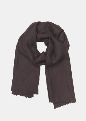 AIAYU - POON CASHMERE SCARF - CHOCOLATE