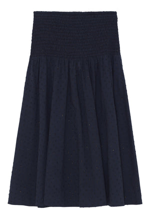 SKALL - MOONLIGHT SKIRT - NAVY W/GOLD
