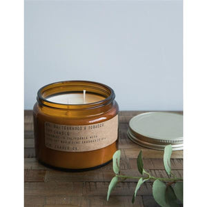 P.F. CANDLE CO. - NO. 4 TEAKWOOD & TOBACCO 14 OZ NEW