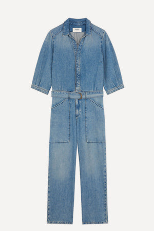 BA&SH - Frida Denim Jumpsuit - Blue