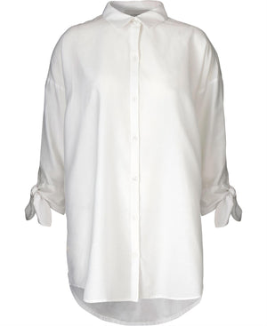 KOKOON - BIANCA BOW SHIRT - WHITE