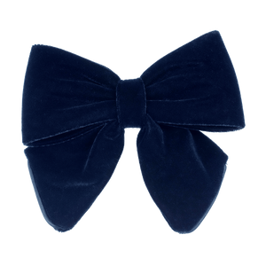 BON DEP - LUXURY VELVET BOW - NAVY