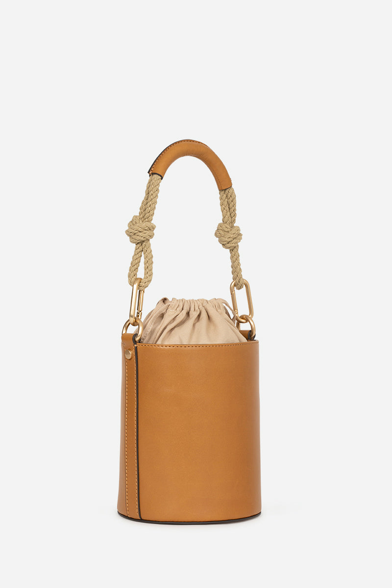 VANESSA BRUNO - Holly Mini Bucket Bag - Biscuit