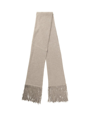 MARK TAN - KASANDRA RIBBED SCARF - LIGHT TAUPE
