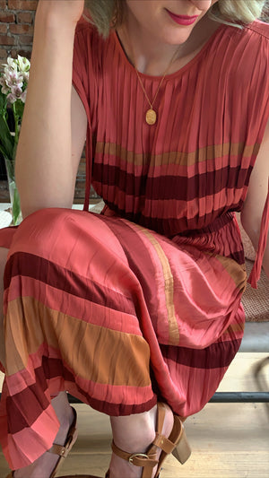 ULLA JOHNSON - ALESSA DRESS - CERISE