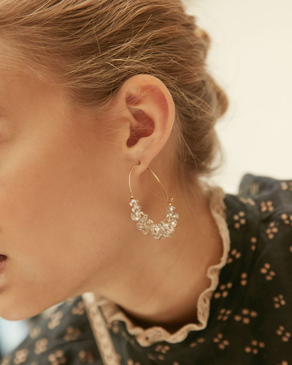 ISABEL MARANT JEWELRY - POLLY EARRINGS - TRANSPARENT