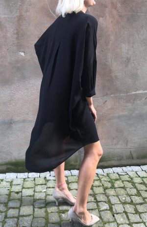 KOKOON - OVERSIZE SHIRT DRESS - BLACK