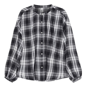 SKALL - CILLA SHIRT - BLACK/LIGHT CREAM