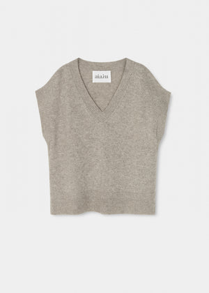 AIAYU - Foxglove Vest - Light Grey