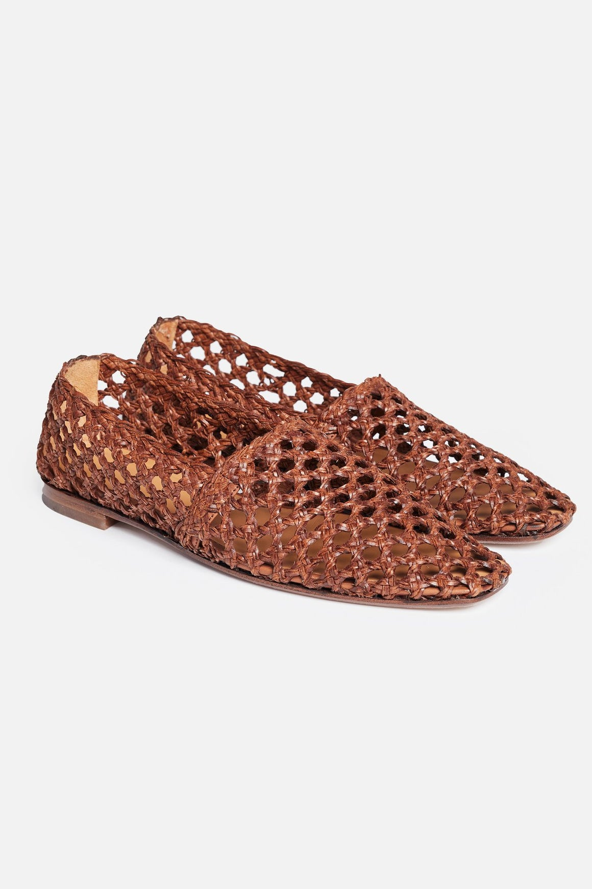 MARK TAN - Alberte Crochet Shoes - Cognac