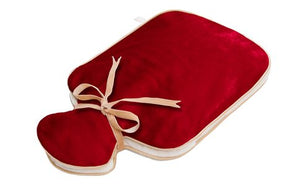HOLISTIC SILK - HOT WATER BOTTLE - SCARLET SILK VELVET