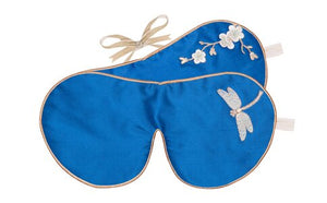 HOLISTIC SILK - EYE MASK LAVENDER - BLUE DRAGONFLY