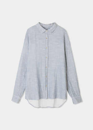 AIAYU - SHIRT STRIPED - INDIGO