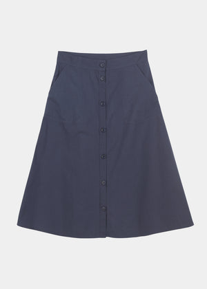 AIAYU - A-SHAPE SKIRT - NAVY