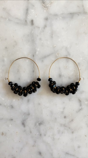 ISABEL MARANT JEWELRY - POLLY EARRINGS - BLACK