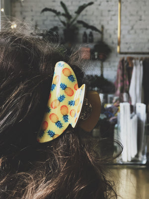 ZUZANNA G - THE FRUITY LOOP HAIRCLAW SMALL YELLOW