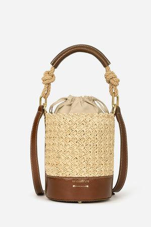 VANESSA BRUNO - Holly Mini Bucket Bag - Cognac