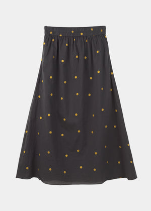 AIAYU - LONG SKIRT GOLDEN DOT - THUNDER