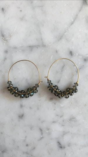 ISABEL MARANT JEWELRY - POLLY EARRINGS - GREY
