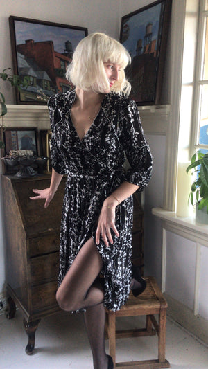 BASH - ROBE FOLIA - NOIR