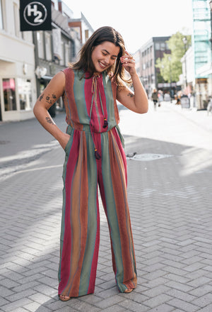 DUET - RAINBOW SILK JUMPSUIT