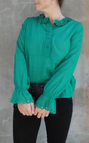 ISABEL MARANT ÈTOILE - LOUNA TOP GREEN