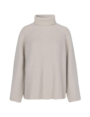 MARK TAN - KARLOTTA TURTLENECK - LIGHT TAUPE (STR.40)