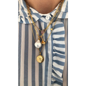STINE A - BIG CHUNKY PENDANT CHAIN - GOLD