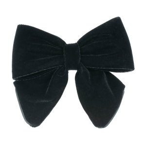 BON DEP - LUXURY VELVET BOW - BLACK