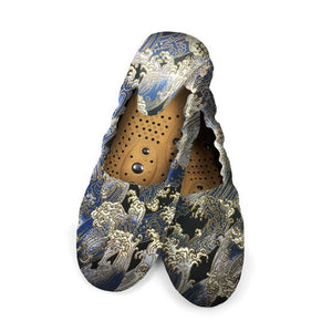 HOLISTIC SILK - MASSAGING SLIPPERS - BLUE WAVES