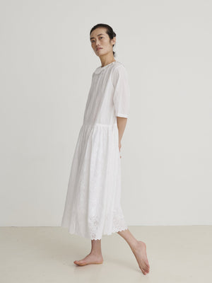 SKALL - Bay Dress - Optic White