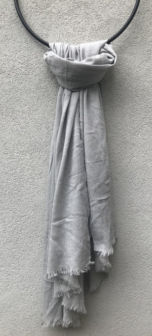 PRIVATE0204 - OPEN LARGE SCARF - COLD GREY