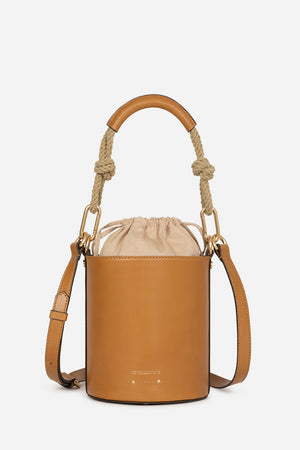 VANESSA BRUNO - Hollly Mini Seau Handbag - Biscuit