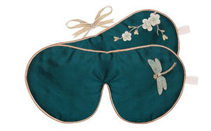 HOLISTIC SILK - EYE MASK LAVENDER - EMERALD DRAGONFLY