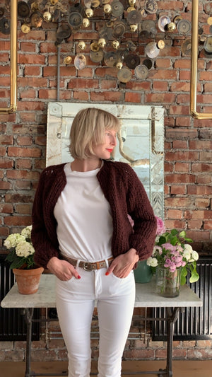 Maiami - WOOL SMALL CARDIGAN