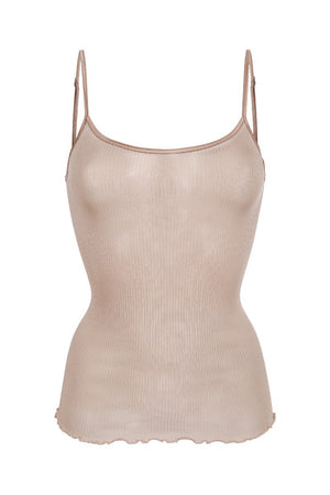VERA & WILLIAM - RIB SINGLET SILKE - VINTAGE PINK