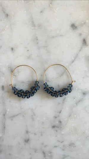 ISABEL MARANT JEWELRY - POLLY EARRINGS - GREYISH BLUE