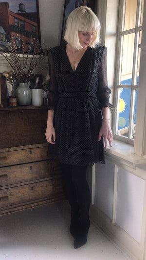 BA&SH - DOLLY DRESS - BLACK str 3