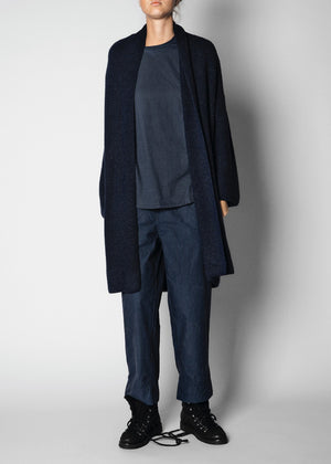 AIAYU - ANDREA LONG CARDIGAN - NAVY