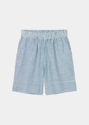AIAYU - SHORTS LONG STRIPED - INDIGO
