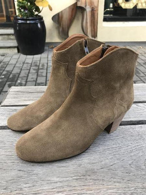 ISABEL MARANT ÈTOILE - DICKER BOOTS BROWN