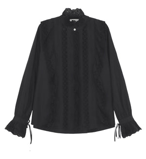 SKALL - IRIS SHIRT - BLACK