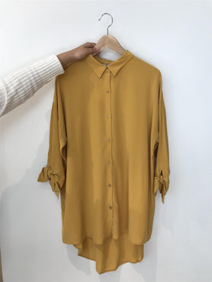 KOKOON - BIANCA BOW SHIRT - HONEY