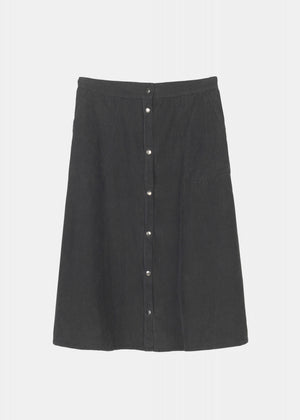 AIAYU - A-SHAPE SKIRT CORDUROY - SOIL