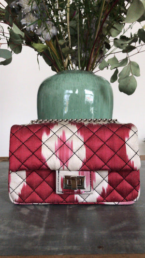 ROUGH STUDIOS - MINI IKAT BANDITA BAG - RED/ECRU