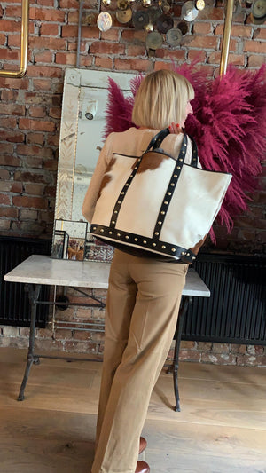 VANESSA BRUNO - CABAS GRAND  BAG - NATUREL