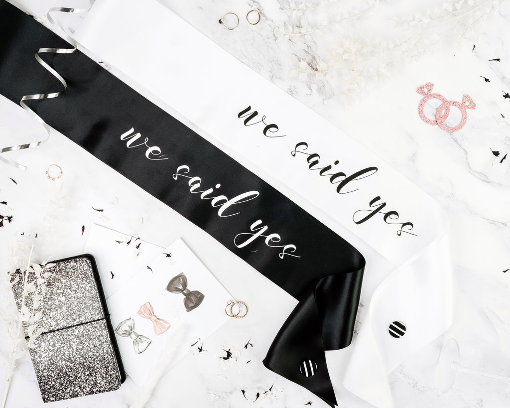 Same Sex Bachelorette Party - Hens Party Sash Package - We Said Yes