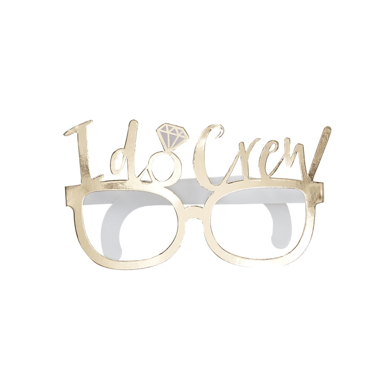 Gold Foiled I Do Crew Fun Prop Glasses