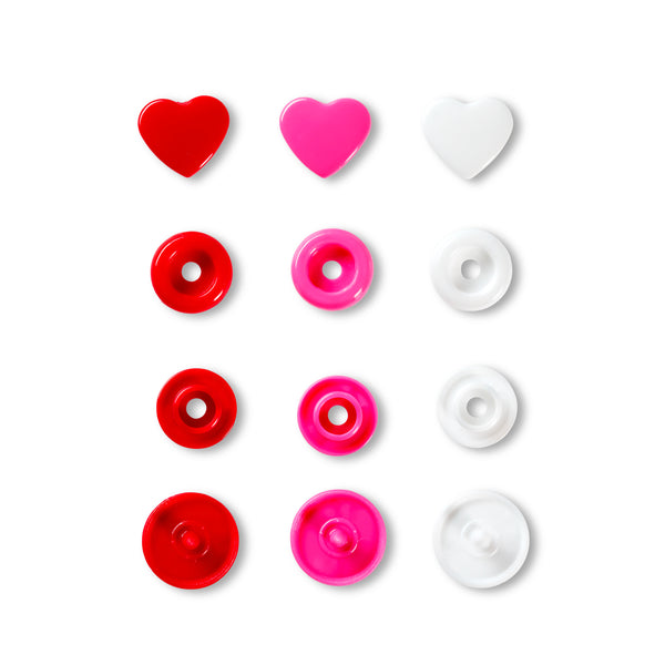 Prym - Press Fasteners - Hearts- 12.4mm