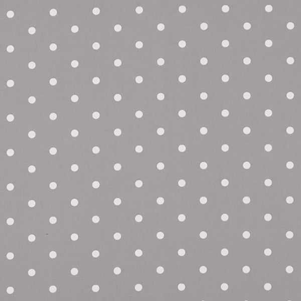 Polka Dotty Smoke Oilcloth